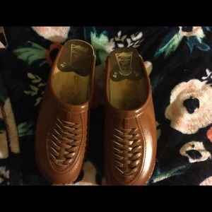 Shoes - Bastad clog braided leather 37 brown vintage